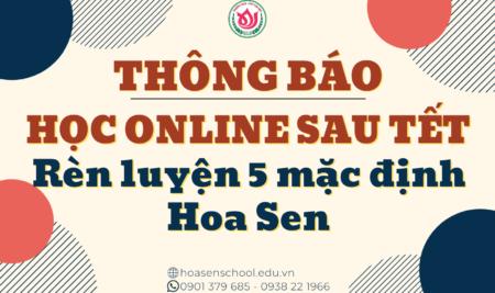 Thông báo v/v học online sau Tết Tân Sửu 2020